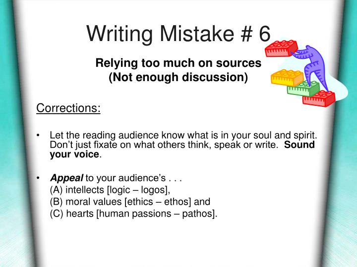 Writing Mistake # 6