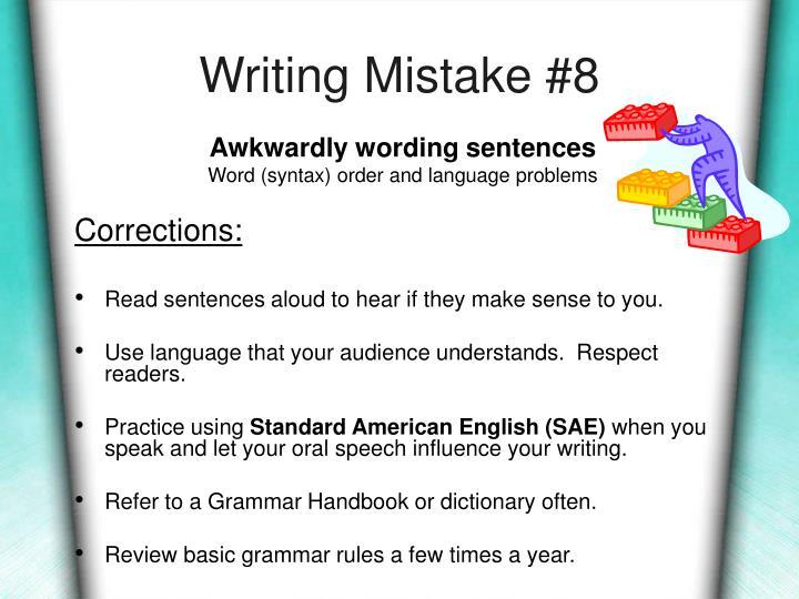 Writing Mistake #8
