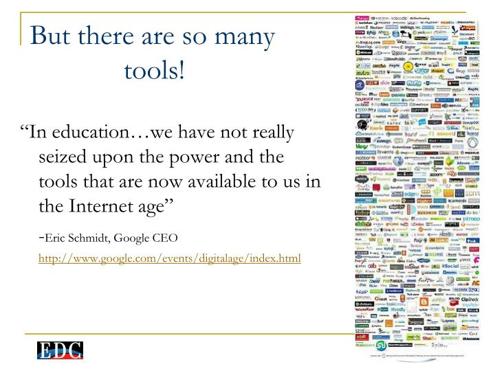 """In education…we have not really seized upon the power and the tools that are now available to us in the Internet age"""
