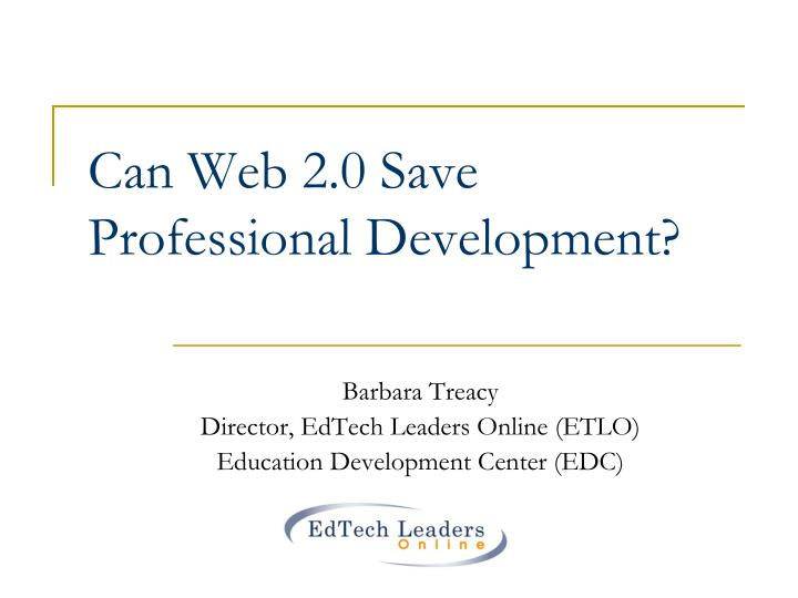 Can Web 2.0 Save