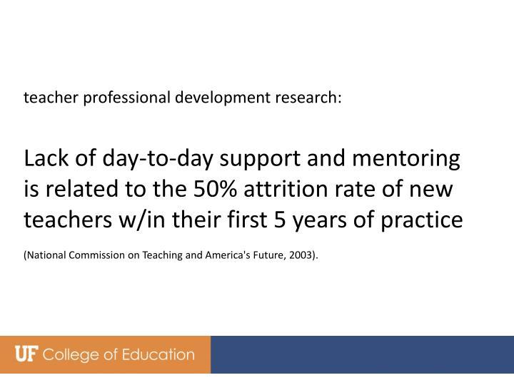teacher professional development research: