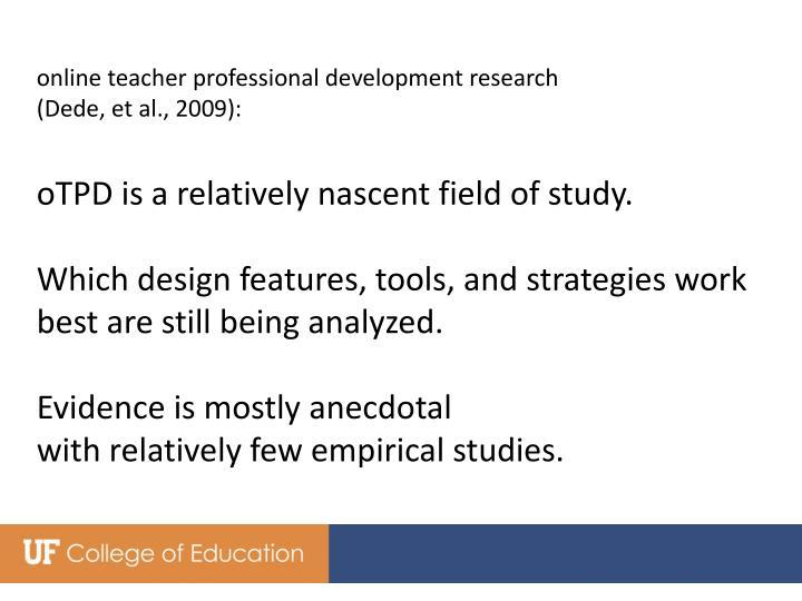 online teacher professional development research