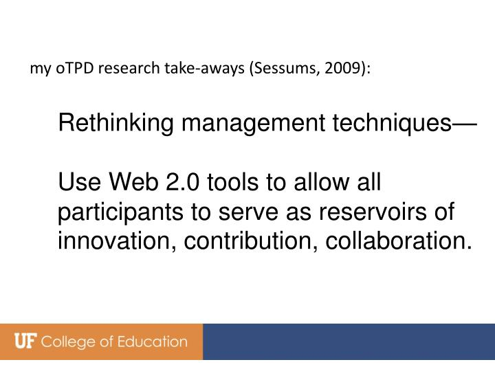 my oTPD research take-aways (Sessums, 2009):