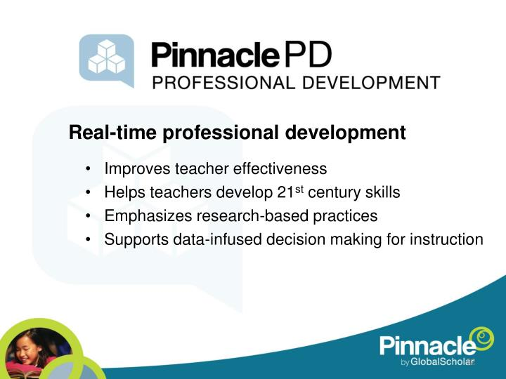 Real-time professional development