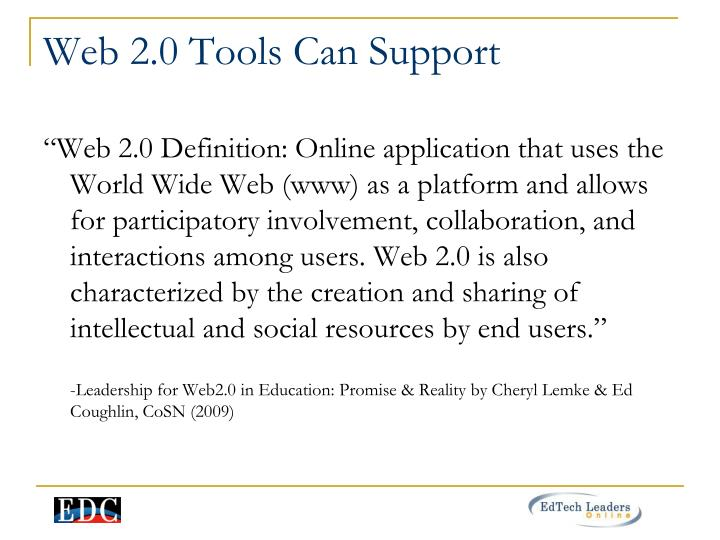 Web 2.0 Tools Can Support