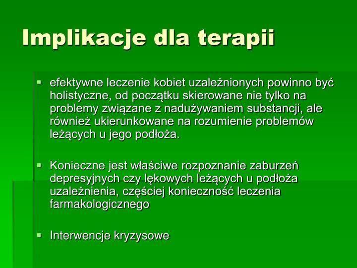 Implikacje dla terapii
