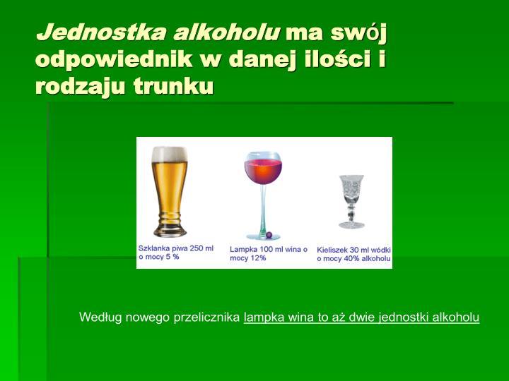 Jednostka alkoholu