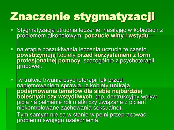 Znaczenie stygmatyzacji