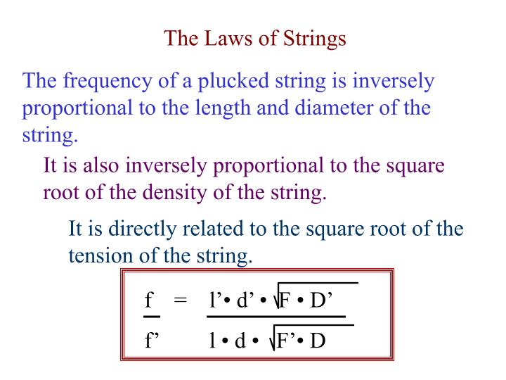 The Laws of Strings