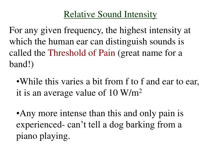 Relative Sound Intensity