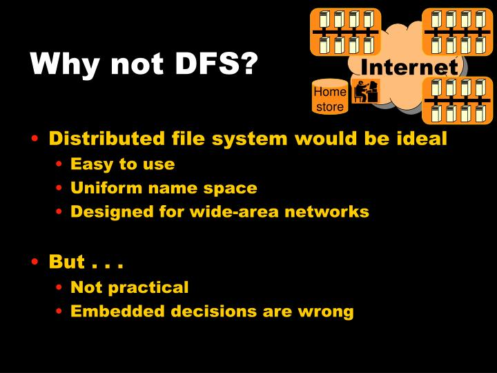 Why not DFS?