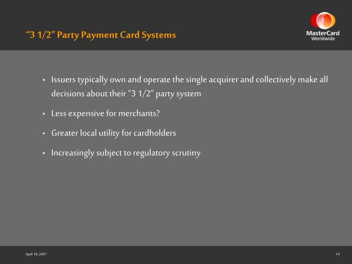 """""""3 1/2"""" Party Payment Card Systems"""