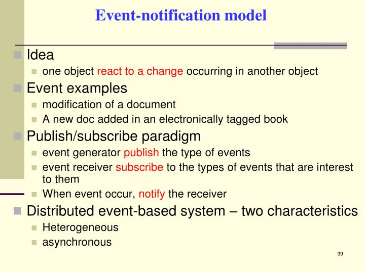 Event-notification model