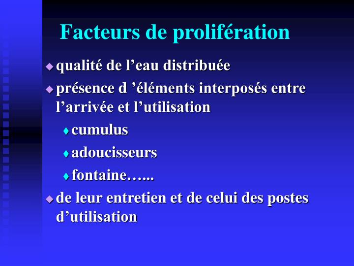 Facteurs de prolifération