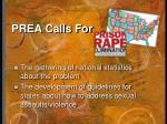 prea calls for