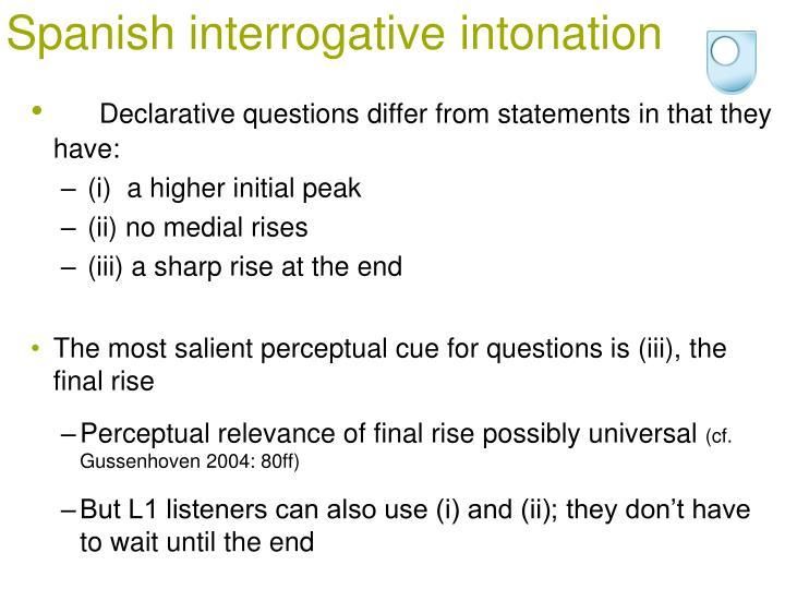 Spanish interrogative intonation