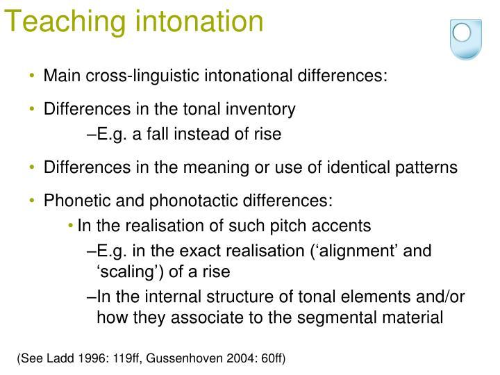 Teaching intonation