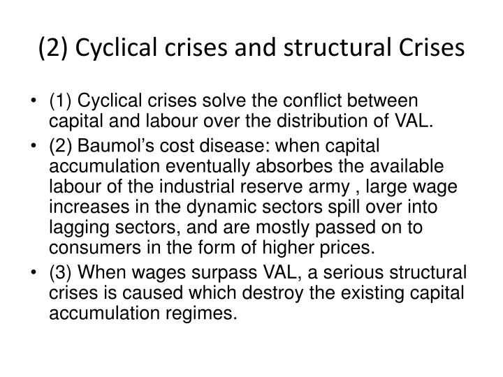 (2) Cyclical crises and structural Crises