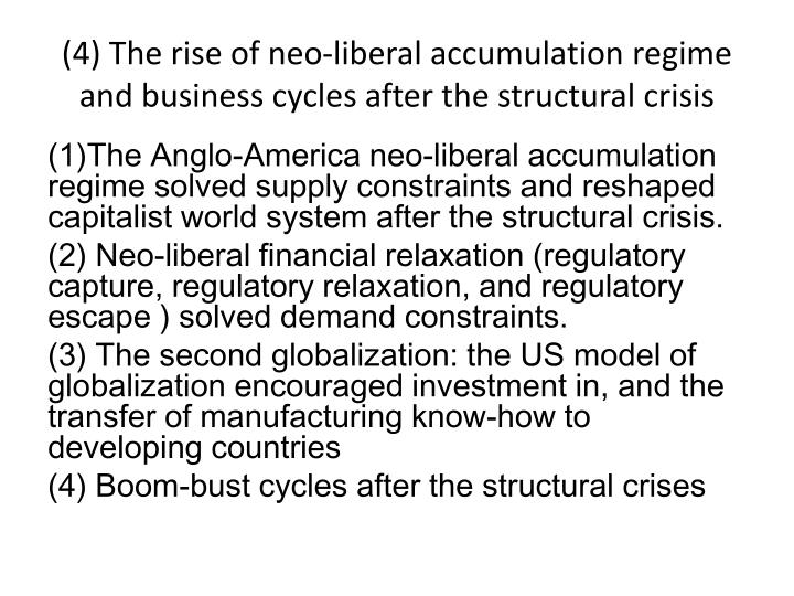 (4) The rise of neo-liberal