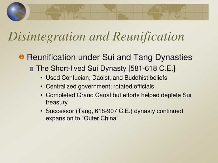 Disintegration and Reunification