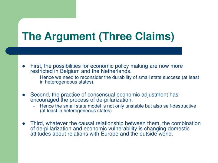 The Argument (Three Claims)