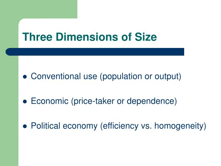 Three Dimensions of Size