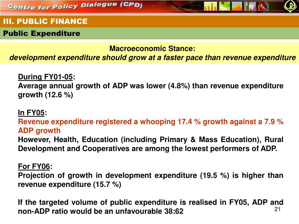 III. PUBLIC FINANCE
