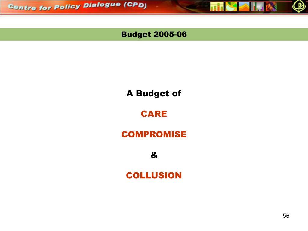 Budget 2005-06