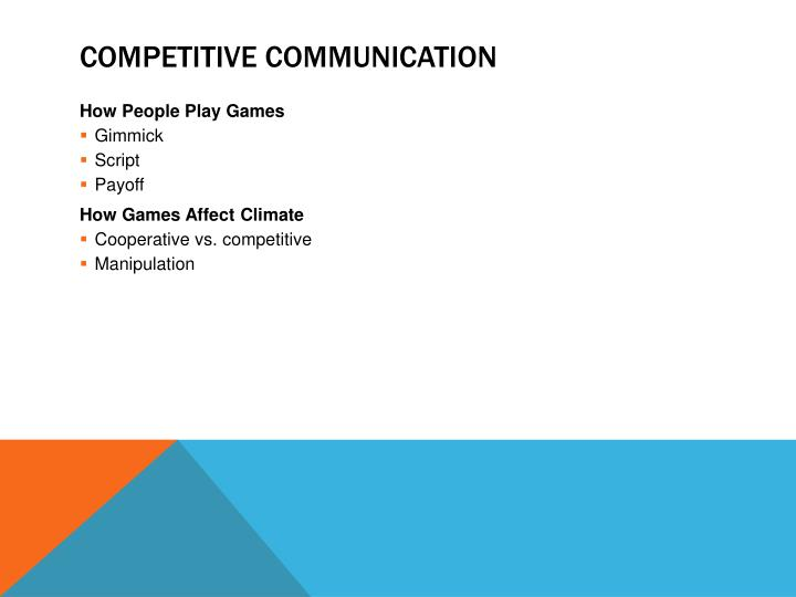 Competitive Communication