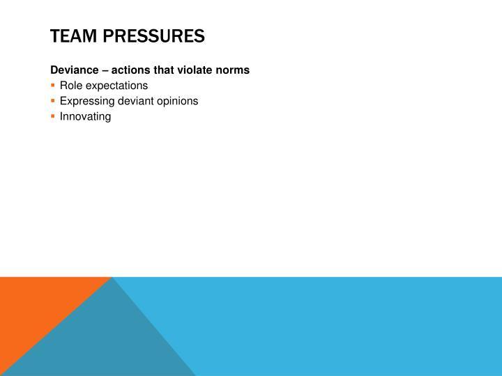 Team Pressures