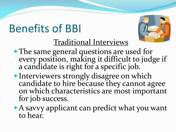 Benefits of BBI