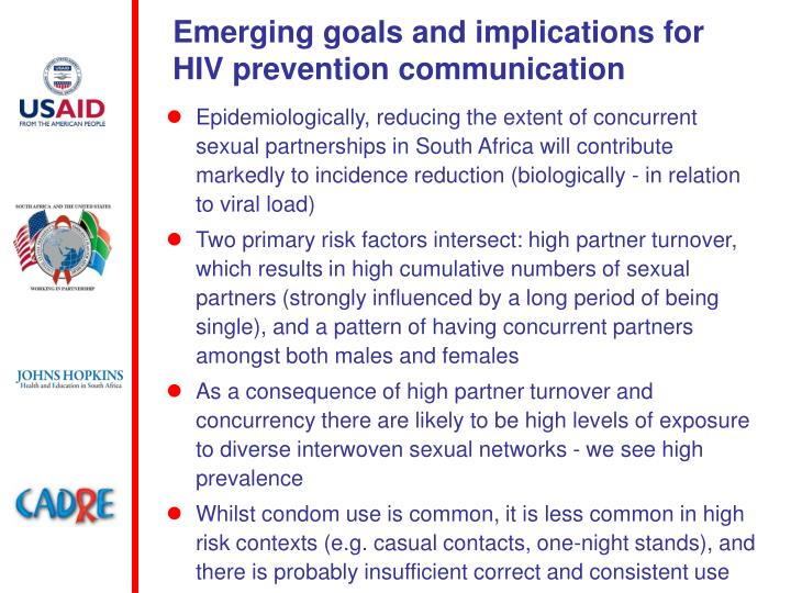 Emerging goals and implications for HIV prevention communication