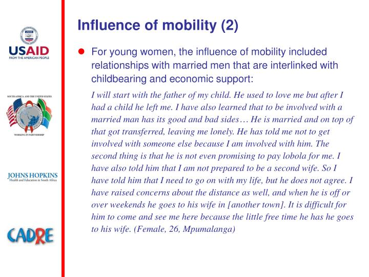 Influence of mobility (2)