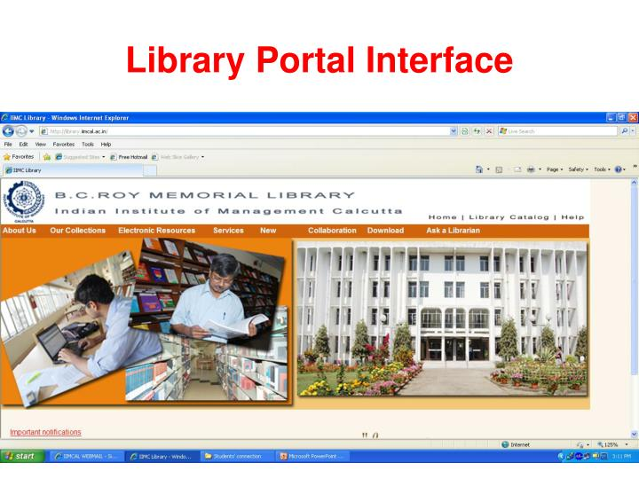 Library Portal Interface