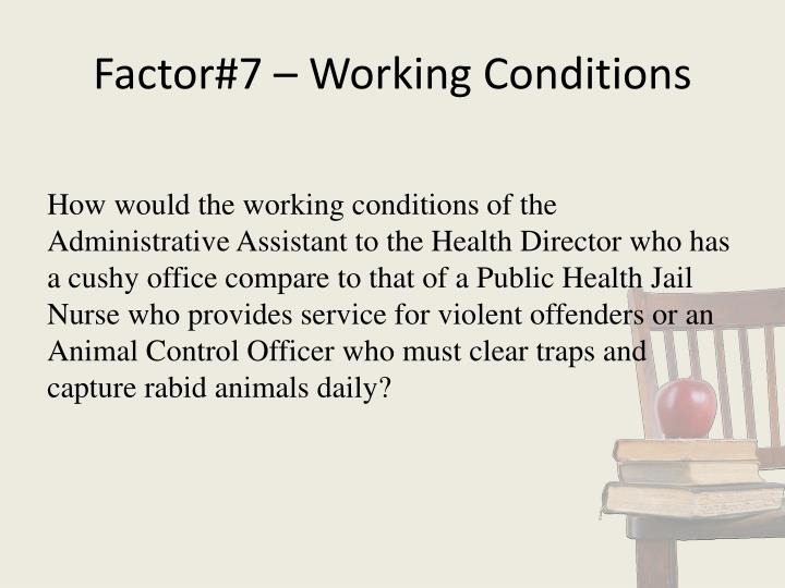 Factor#7 – Working Conditions