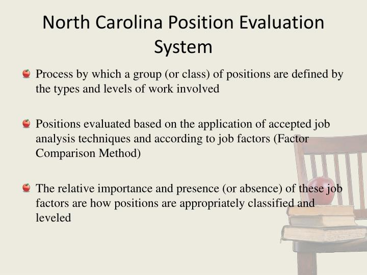 North Carolina Position Evaluation  System