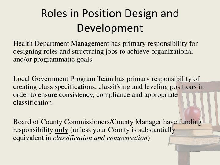Roles in Position Design and Development