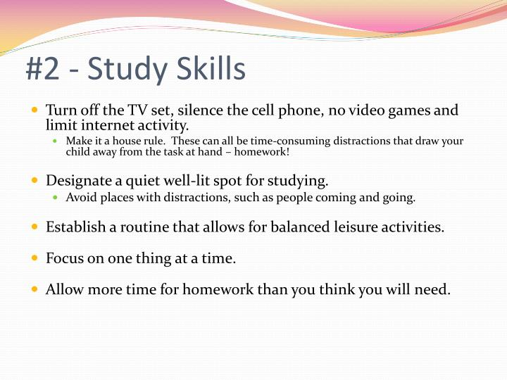 #2 - Study Skills