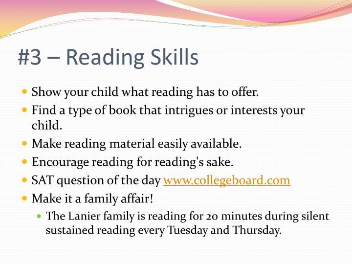 #3 – Reading Skills