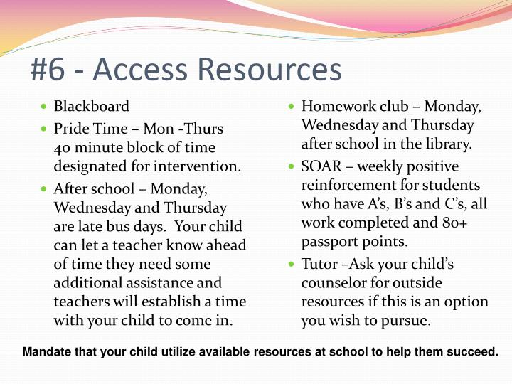#6 - Access Resources