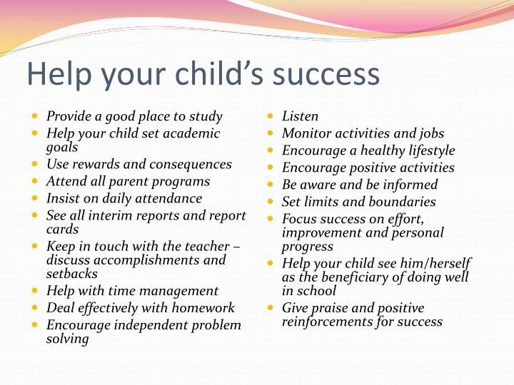 Help your child's success
