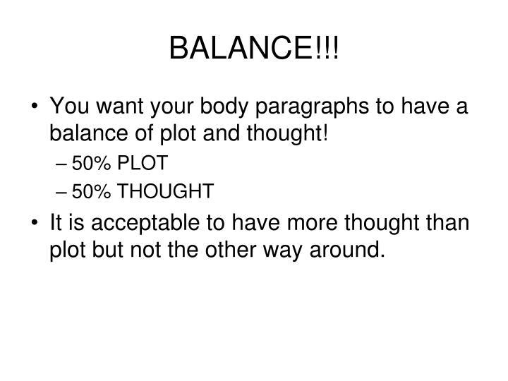 BALANCE!!!