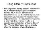 citing literary quotations
