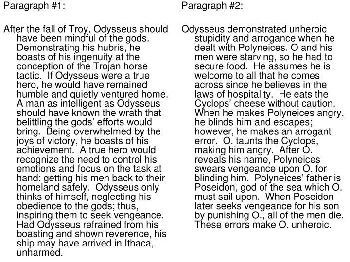 Paragraph #1: