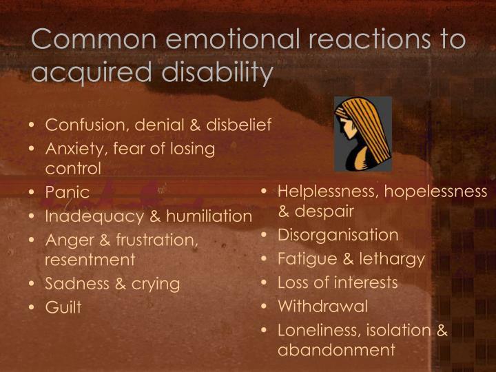 Confusion, denial & disbelief