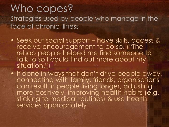 Who copes?