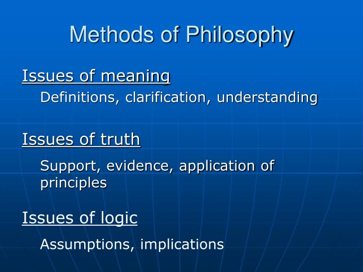 Methods of Philosophy