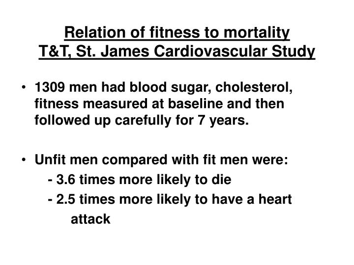Relation of fitness to mortality