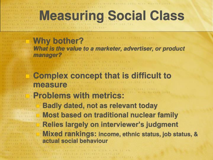 Measuring Social Class