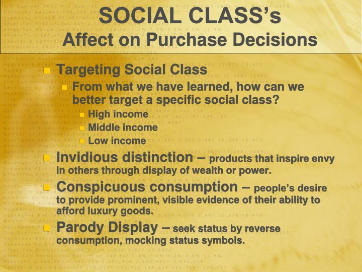 SOCIAL CLASS's